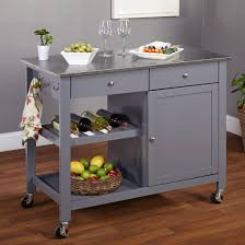 stainless steel kitchen island on wheels amazing kitchen portable island rolling cart butcher block pict of