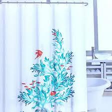 Aqua Blue Shower Curtains Aqua Teal Seagrass And Colorful Tropical Fish Fabric Shower