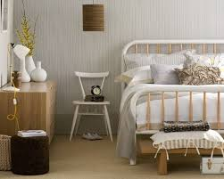 nice fetching striped wall decor scandinavian bedroom design with