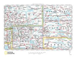 Montana Wyoming Map by Yellowstone River Drainage Basin Landform Origins Montana And