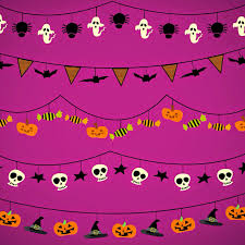 seamless halloween background skulls bone pink halloween background clipartsgram