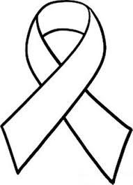printable ribbon cancer ribbon pattern use the printable outline for crafts
