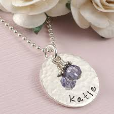Name And Birthstone Necklace Personalized Mommy Necklace With Children Name And Birthstones