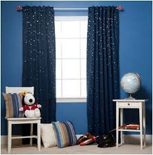 Outer Space Curtains Blue Curtains For Boys Room 6116