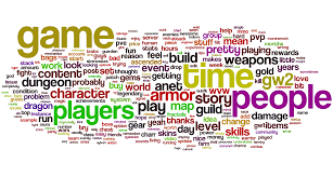 r guildwars2 u0027s most used words over the past month guildwars2