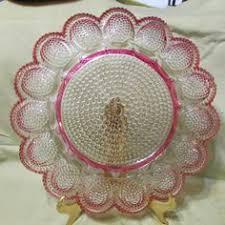 antique deviled egg plate pottery deviled egg plate egg plates cups holders