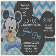 mickey mouse baby shower invitations baby shower invitation best of baby mickey mouse baby shower