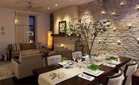 wallpaper design batu bata ruang makan unik dengan dinding batu bata rancangan desain rumah