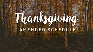 thanksgiving amended services pinelake church