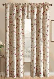 Brown Floral Curtains Brewster Crushed Sheer Curtains Have A Delightful Printed Array Of