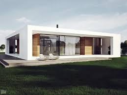 Modern Plan Single Storey House Stylish Design White Facade