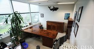 reclaimed wood l shaped desk custom l shaped reclaimed wood desk in toronto office blog