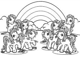 my little pony with rainbow background coloring page my little