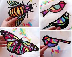 les enfants papillon vitrail suncatcher de kit par hellosprout
