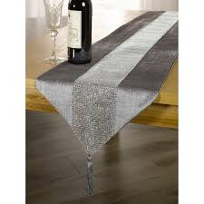 panache coloured table runner with diamante strip and tassels