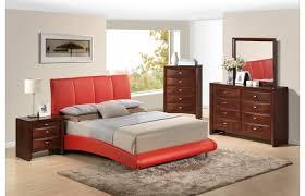 bedroom fascinating verona contemporary modern wood 5pc queen