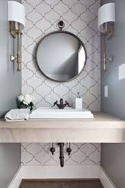 Tiles For Small Bathrooms Ideas Best 25 Small Bathroom Wallpaper Ideas On Pinterest Half
