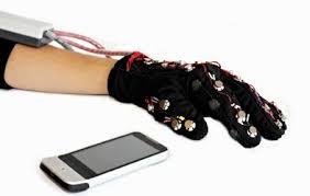 Blind People Phone Vibrotactile Glove Lets Deaf Blind People Communicate Via Sms