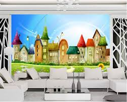 aliexpress com buy beibehang wall paper for kids room castle aliexpress com buy beibehang wall paper for kids room castle colorful castle cartoon children room cartoon background wall mural 3d wallpaper from