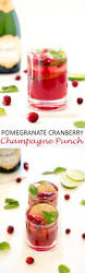 holiday champagne cocktails pomegranate cranberry champagne punch recipe cranberry punch