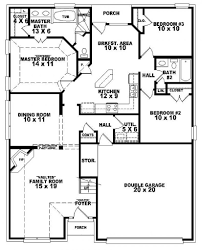 2 Bedroom Floor Plans Ranch by 3 Br Duplex W Garage Plans Bedroom 2 Bath French Style House