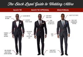 black tie attire how to the right suit for any wedding infographic