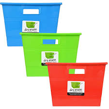 bulk square erase plastic locker bins with handles at
