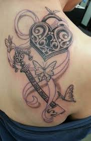 stunning lock and key designs get tattoos for 2015