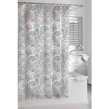 Coral And Grey Shower Curtain Cotton Shower Curtains Shop The Best Deals For Dec 2017