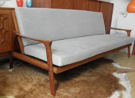 danish deluxe inga day bed couch in new grey upholstery red rider