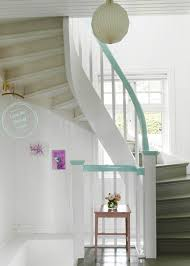 Painting Banisters Ideas Pretty Pastel Decorating Ideas Contrast Color Railings And