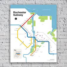 Nyc Subway Map Poster by The Rochester Subway Map Reconnect Rochester