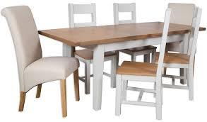 Perth Dining Chairs Buy Perth French Grey Dining Set Extending With 4 Wooden And 2