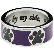 ring titanium always by my side forever in my heart titanium ring the animal