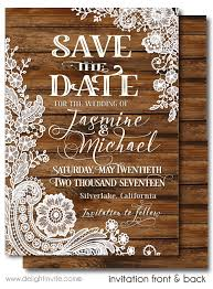 rustic save the date cards rustic wood vintage lace save the date cards di 5022sd