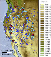I 35 Map Aridity Index P E Map Of Western North America Equidistant