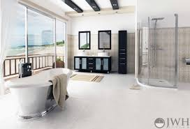 59 Inch Double Sink Bathroom Vanity by Jwh Living 59 U0026quot Lune Double Sink Vanity Glass Top