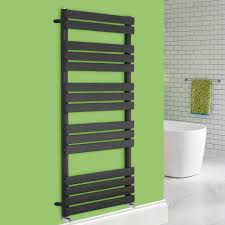 heated towel rail flat panel rad radiator bathroom heater warmer