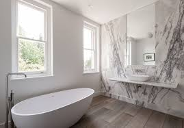 bathroom of the week in london a dramatic turkish marble