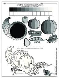 shading thanksgiving worksheet shading techniques worksheets