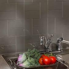 aspect 3 aspect backsplash 3x6 glass tile in leather