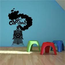 steam train toy track boys bedroom wall art sticker decal transfer steam train toy track boys bedroom wall art