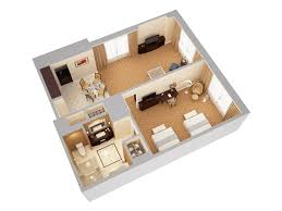 Waldorf Astoria Orlando 3d Floor Plans Floor Plan 3d Suite