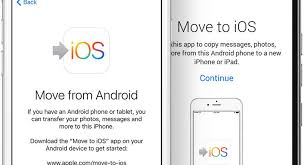 switching from android to iphone how to use the move to ios app with ios 9 android iphone
