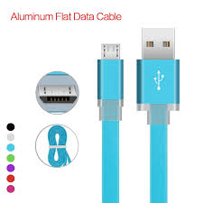 best 2017 new 1m 3ft 1a aluminum metal head micro usb flat noodle