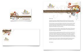 Church Programs Templates Church Youth Group Business Card U0026 Letterhead Template Word
