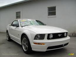 white mustang 2006 2006 ford mustang gt premium convertible in performance white