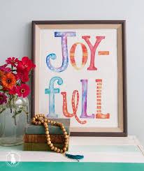 joy full print freebie the handmade home