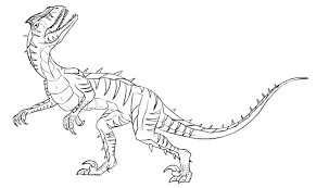 utahraptor coloring page free download