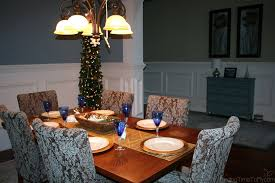 blue and gold coastal christmas dining room finding time to fly